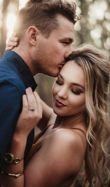 Engagement Photos: Couple in a Forest