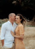 couple at bargara beach