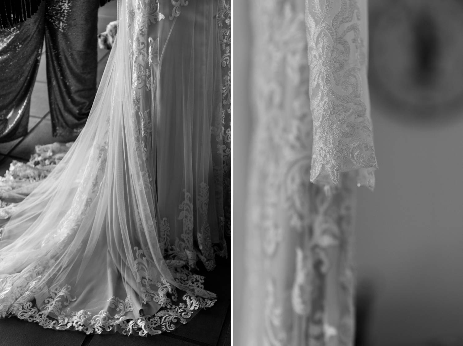 Lace Wedding dress close up