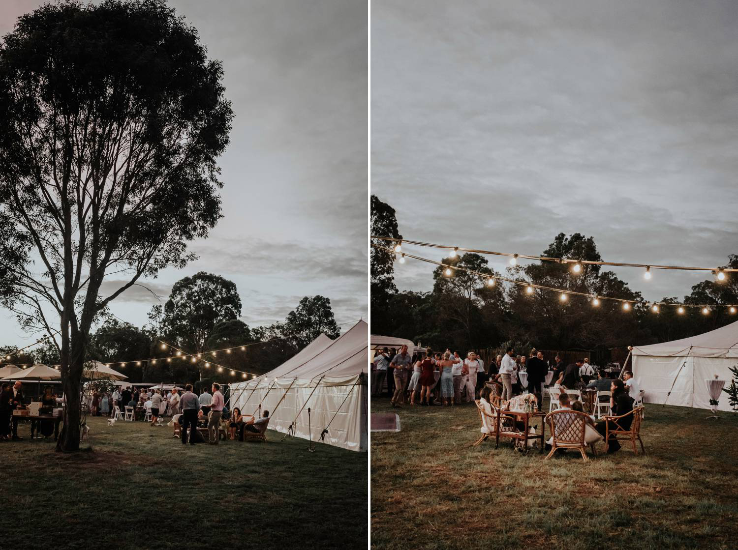 Autumn Wedding Reception outdoors