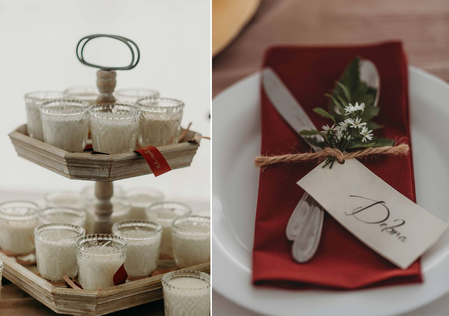 Wedding Favours, candles.
