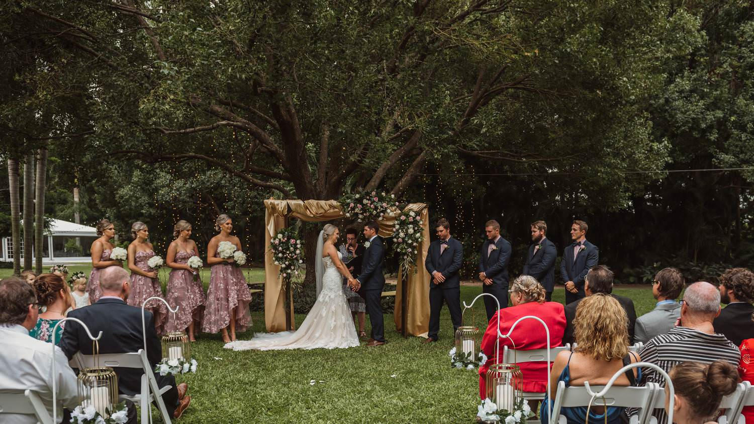 Wedding Ceremony at In the Grove