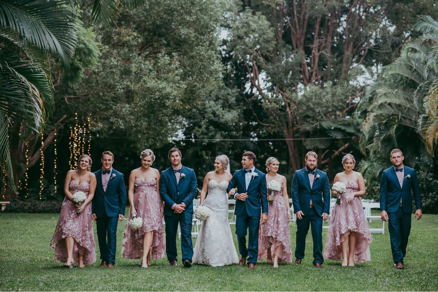 Wedding Party walking together
