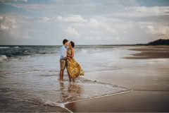 Couple at the beach in the water