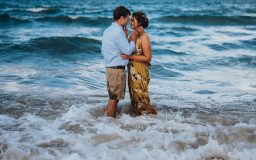 Couple in the water at the Beach