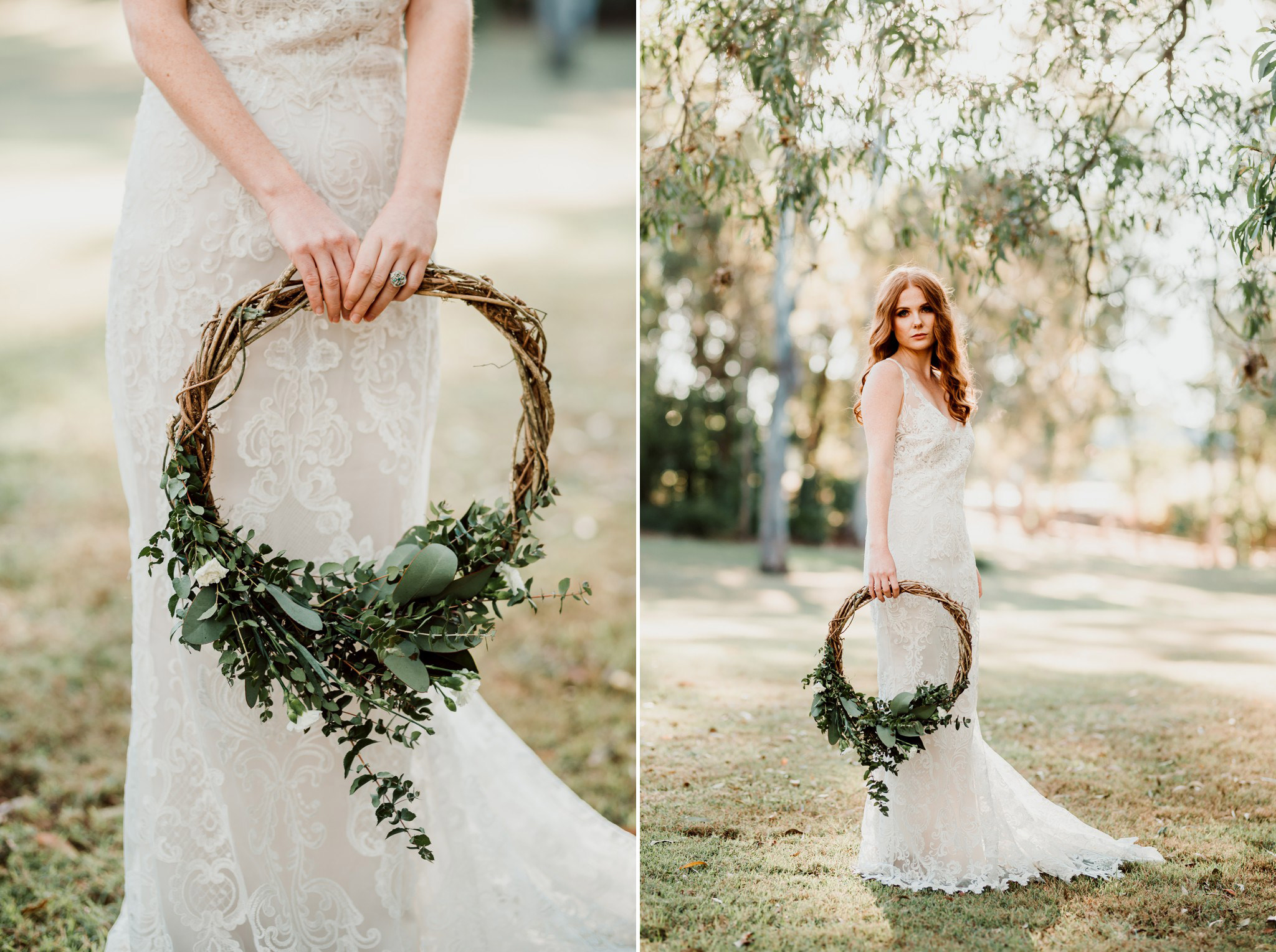 Bride with a wreath of flowers