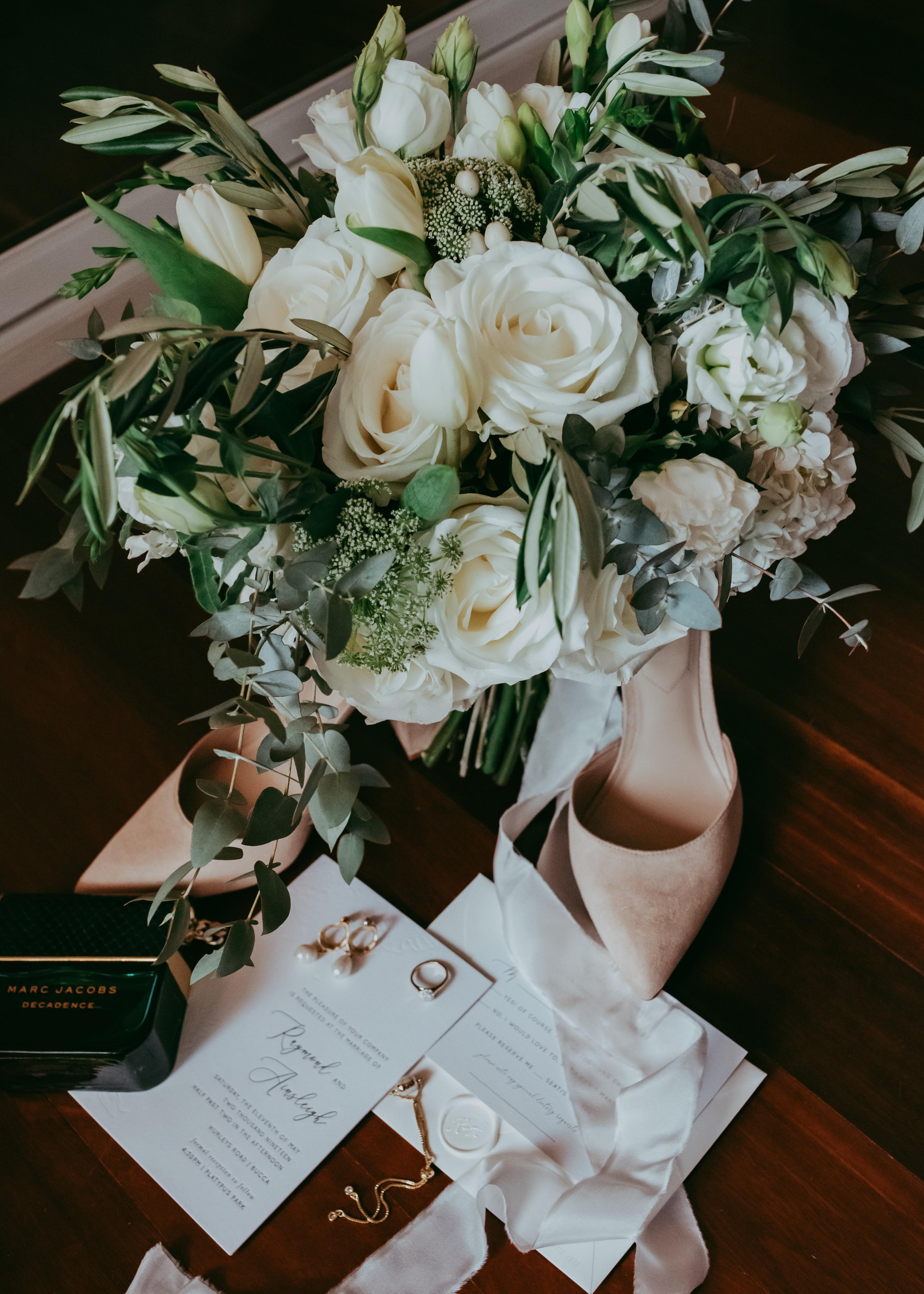 Classic White Wedding Bouquet