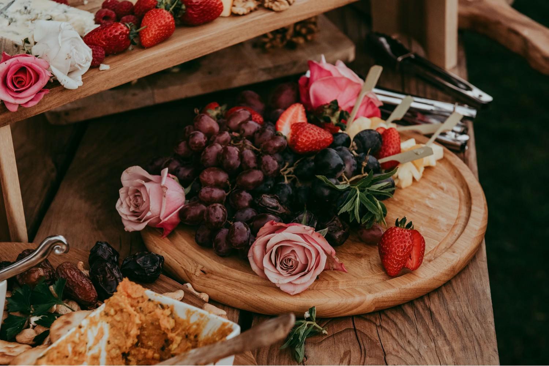 wedding reception grazing plate