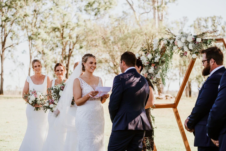 Bride Groom exchanging vows