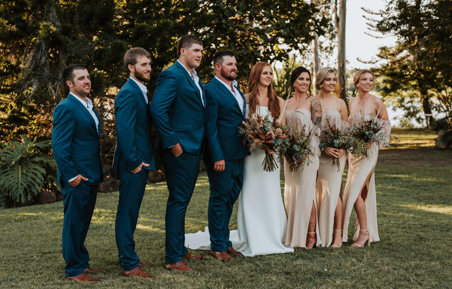 Wedding party at Platypus Park