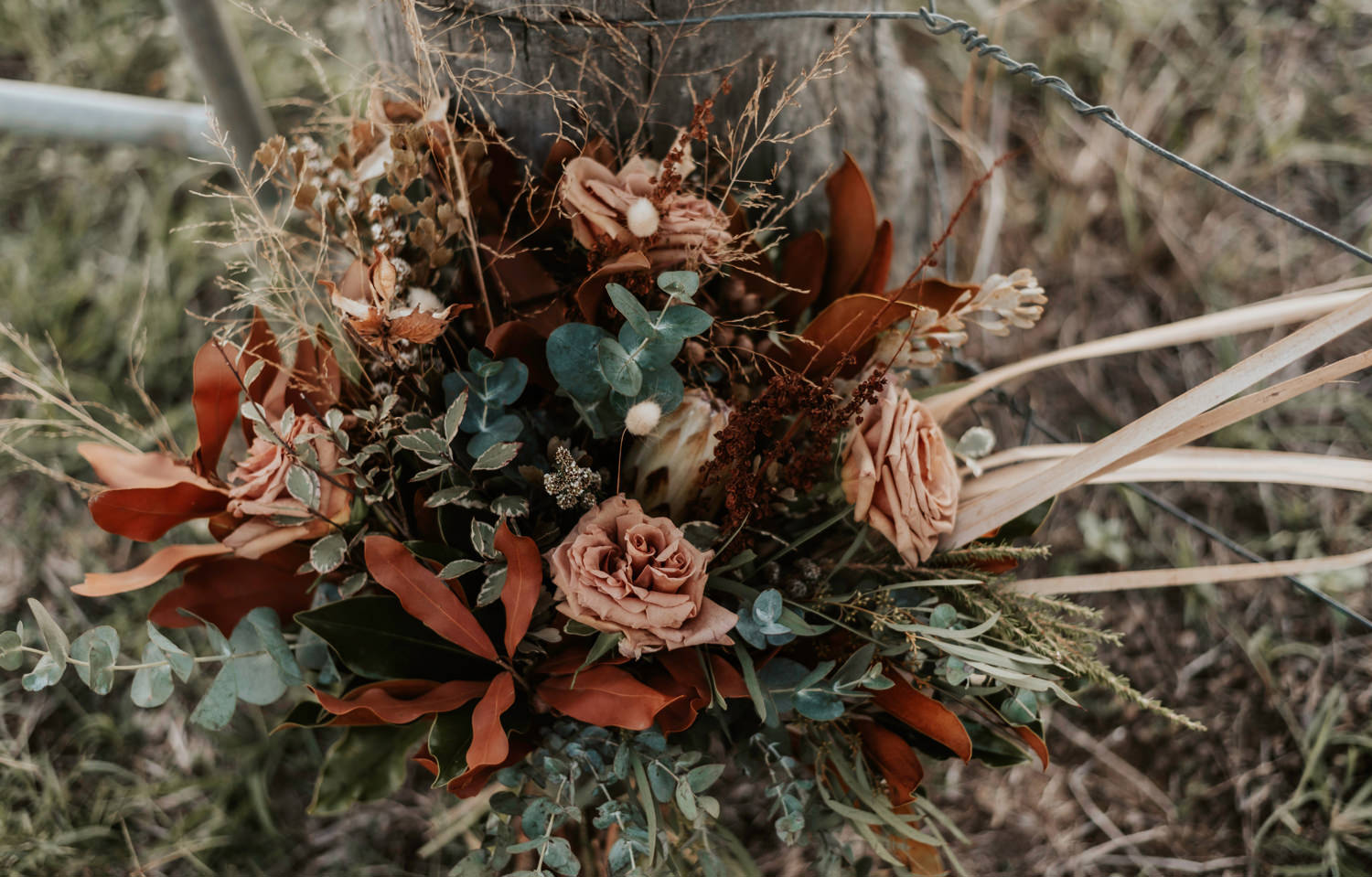 Blush Rust Wedding Bouquet